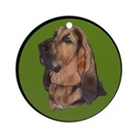 Exquisite Bloodhound Ornament (Round)