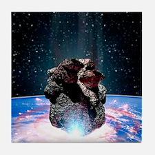 Asteroid impact Tile Coaster