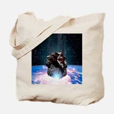 Asteroid impact Tote Bag