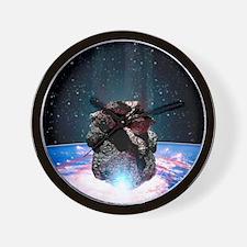 Asteroid impact Wall Clock