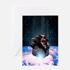 Asteroid impact Greeting Card