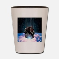 Asteroid impact Shot Glass