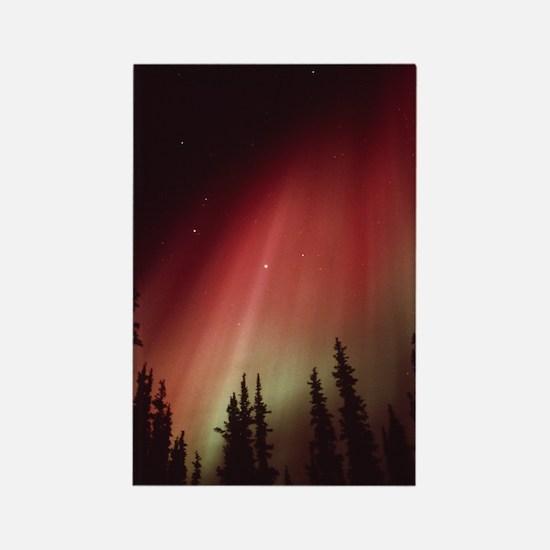Aurora borealis Rectangle Magnet