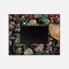 Assorted grains of unworked corundum Picture Frame