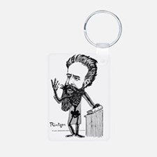 Caricature of Roentgen and Keychains