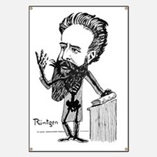 Caricature of Roentgen and X-rays Banner