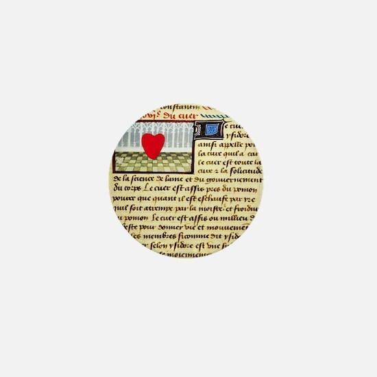 Cardiac treatise, 15th century Mini Button