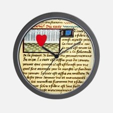 Cardiac treatise, 15th century Wall Clock