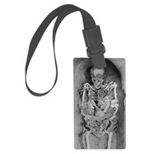 Artwork: Palaeolithic skeleton f Luggage Tag