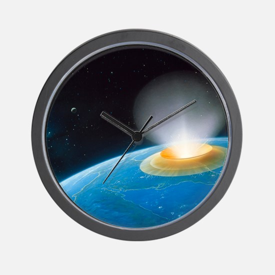 Artwork showing Chicxulub impact event Wall Clock