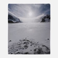 Athabasca Glacier, Canada Throw Blanket