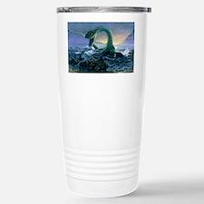 Artwork of Elasmosaurus, a mari Travel Mug