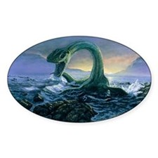 Artwork of Elasmosaurus, a marine d Decal
