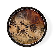 Cave painting, artwork Wall Clock