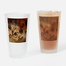 Cave painting, artwork Drinking Glass