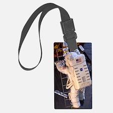Astronaut descending Lunar Modul Luggage Tag