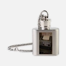 Associated Press teletype machine Flask Necklace