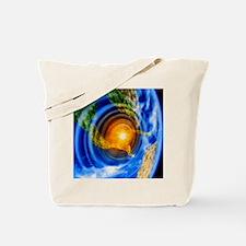 Artwork of Yucatan asteroid impact Tote Bag