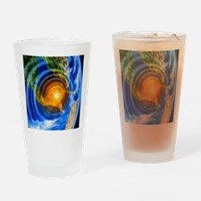 Artwork of Yucatan asteroid impact Drinking Glass