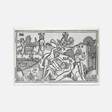 Cain and Abel, 16th-century bible Rectangle Magnet