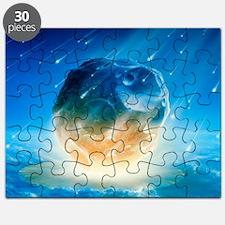 Artwork showing Chicxulub impact event Puzzle