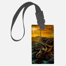 Artwork of the death of the dino Luggage Tag