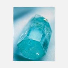 Aquamarine crystal Twin Duvet