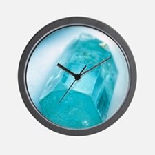 Aquamarine crystal Wall Clock