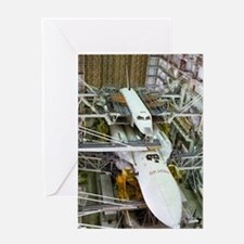 Buran space shuttle before flight Greeting Card