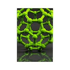 Buckyball molecule C60, artwork Rectangle Magnet
