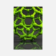 Buckyball molecule C60, artwork Rectangle Magnet
