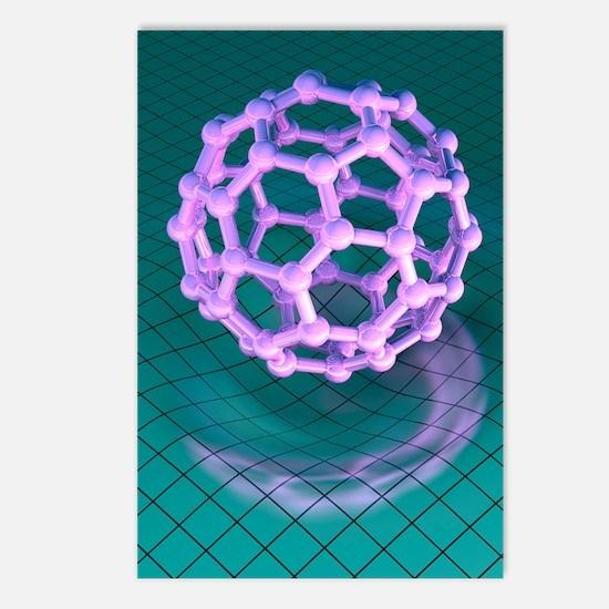 Buckminsterfullerene mole Postcards (Package of 8)