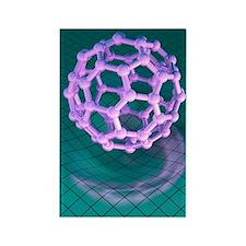 Buckminsterfullerene molecule Rectangle Magnet