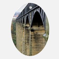 Arches of the Pontcysyllte Aqueduct Oval Ornament