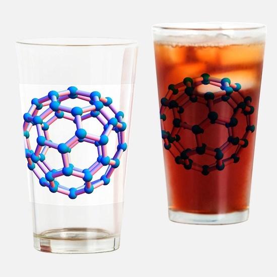 Buckminsterfullerene molecule Drinking Glass