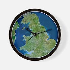 British Isles, satellite image Wall Clock