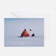 Antarctic field camp Greeting Card
