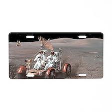 Apollo lunar rover, artwork Aluminum License Plate