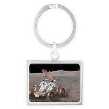 Apollo lunar rover, artwork Landscape Keychain