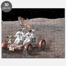 Apollo lunar rover, artwork Puzzle