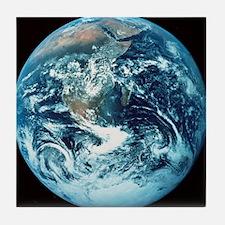 Apollo 17 photograph of whole earth Tile Coaster