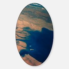 Apollo 7 photograph of Kuwait, Iraq Decal