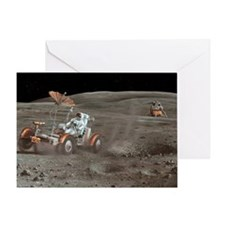 Apollo 16 lunar rover, artwork Greeting Card