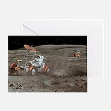 Apollo 16 lunar rover, artwork Greeting Card