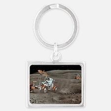 Apollo 16 lunar rover, artwork Landscape Keychain