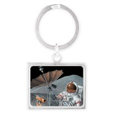 Apollo 15 exploration, artwork Landscape Keychain