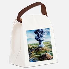 Ancient volcanic eruption Canvas Lunch Bag