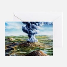 Ancient volcanic eruption Greeting Card