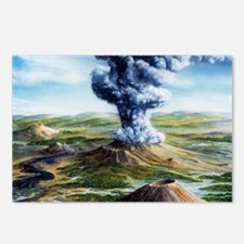 Ancient volcanic eruption Postcards (Package of 8)