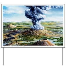 Ancient volcanic eruption Yard Sign